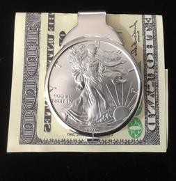 1 oz Silver Dollar Liberty Coin Sterling Money Clip 2019 ASE