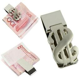 1 x Money Clip Dollar Sign Card Holder Slim Clamp Stainless