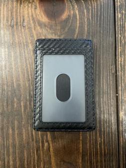 Carbon Fiber Money Clip + Front Pocket Wallet Slim Minimalis