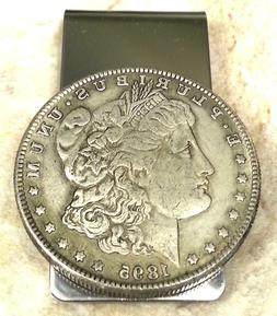 1895 Morgan Dollar Coin Token Not Silver Souvenir Money Clip