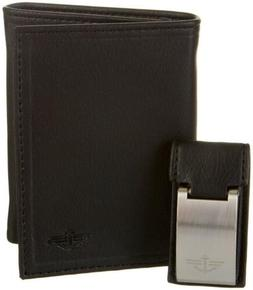81 men black leather trifold rfid 6cc