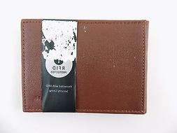 Perry Ellis $85 Brown Money Clip MEN'S Leather Wallet BILLFO