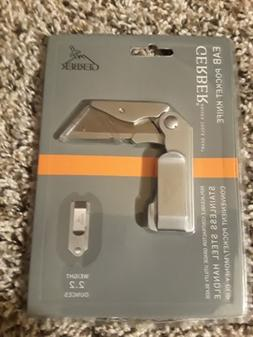 Gerber EAB Pocket Knife Stainless Steel Handle New Clip