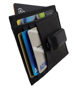 AG Wallets Mens Leather Slim Money Clip Front Pocket Wallet
