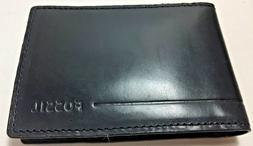 Fossil Allen Front Pocket Wallet ID Money Clip Card Case Bla
