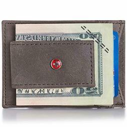 alpine swiss mens wallet leather money clip