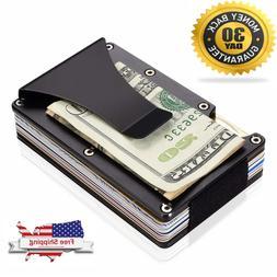 Aluminum Metal Wallet Front Pocket Minimalist Slim Rfid Mone