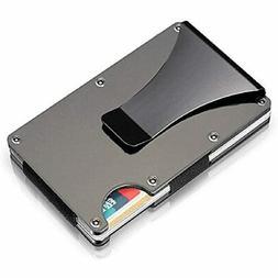 MAIDESH Aluminum Metal Wallet Front Pocket Minimalist &amp M