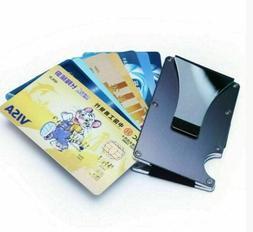 aluminum metal wallet rfid blocking slim money