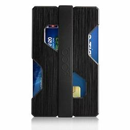 Aluminum Slim Wallet RFID Blocking Money Clip Futuristic Des