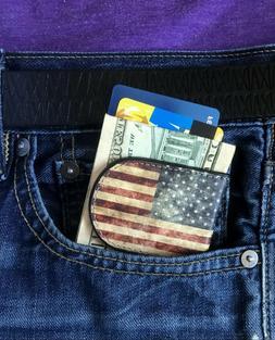 american flag money clip leather money clip