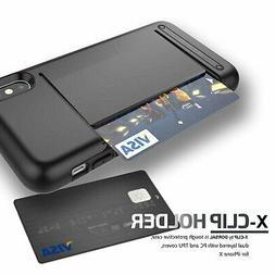 Apple iPhone 10 X Case, Wallet Card Slot Drop Protection Hea
