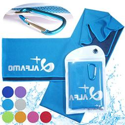 """Aqua Blue Cooling Towel for Instant Relief - 33"""" Long Ultra"""