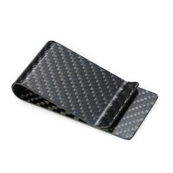 Black Carbon Fiber Wallet Money Clip Credit Card Business Ca