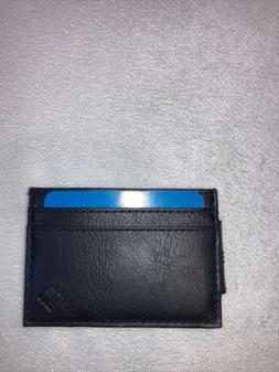 black money clip wallet