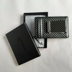 Travelambo Black Money Clip Wallet, New