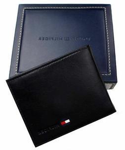 Tommy Hilfiger® Men's Black Passcase Leather Wallet