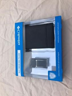 Columbia Black Wallet and Money Clip RFID Shield