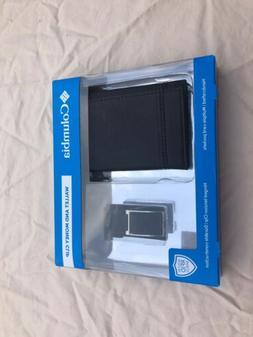 black wallet and money clip rfid shield