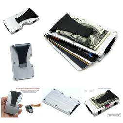blocking front pocket aluminum slim wallet