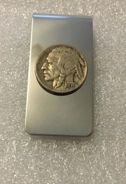 Buffalo Nickel Stainless Steel Money Clip