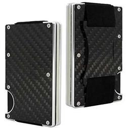 Business Card Cases Carbon Fiber Belt Money Clip Minimalist Wallet RFID Blocking
