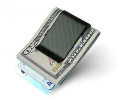SERMAN BRANDS- Carbon Fiber Money Clip Credit Card holder Sl