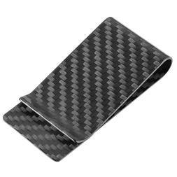 Carbon Fiber Money Clip Front Pocket Minimalist Slim Wallet
