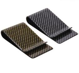 carbon fiber money clip genuine weave strong