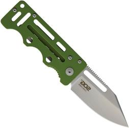 SOG Cash Card Frame Lock Knife Satin Stainless Steel Money C