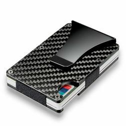 Carbon Fiber Money Clip Holder Men's Business Credit Card Ca