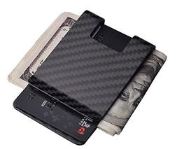 Carbon Fiber Money Clip Wallet-CL CARBONLIFE Business Card H
