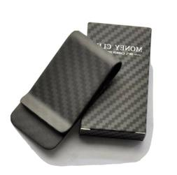 Carbon Fiber Money Clip Wallet Credit Card Cash Holder Black