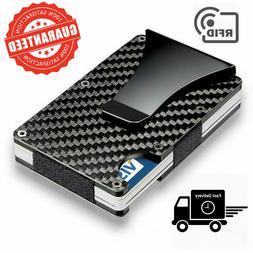 carbon fiber money clip wallet men rfid
