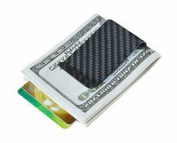 Carbon Fiber Wallet Money Clip  For Men - Credit Card Holder