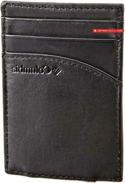 Columbia Men'S Leather Magnetic Money Clip Minamalist Slim C