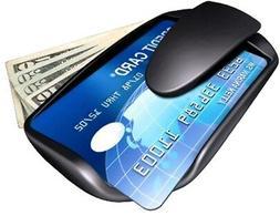 SafePocket - Compact Money Wallet Clip - Men's - Black