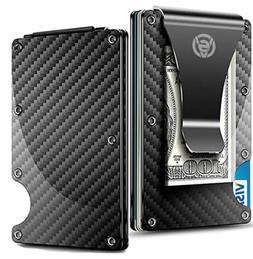 Credit Card Holder Wallet Money Clip Aluminum RFID Safe Slim