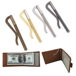 E! 1Pc Metal bifold money clip bar wallet replace parts spri