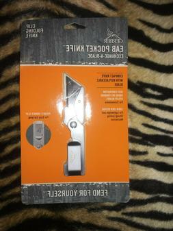 Gerber EAB Exchange A Blade folding knife, integrated belt o