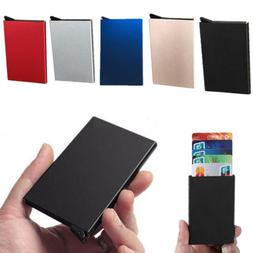 Fashion Men Aluminum Money Clip Magnet Front Pocket Wallet S