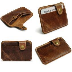 Fashion Men Women Money Clip Slim Credit Card ID Holder Wall