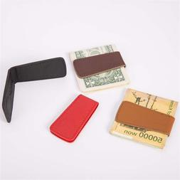 Fashion mini magnet leather wallet new retro first layer cow