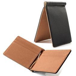 Faux <font><b>Leather</b></font> Slim Mens Credit Card Walle