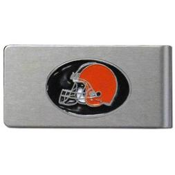 Siskiyou Sports FBMC025 Browns Brushed Money Clip