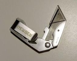 GERBER Folding Pocket Utility Knife Box Cutter Clip 1 Blade