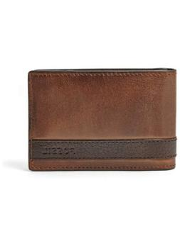 Fossil ML3650200 Quinn Men's Brown Leather Bifold Money Clip