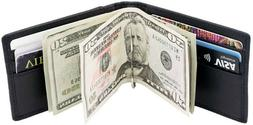 front pocket wallet leather rfid blocking id