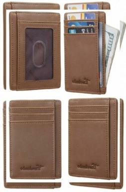 front pocket wallet minimalist leather slim money