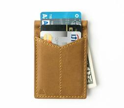 Andar - Full Grain Leather Money Clip, RFID Blocking, Cash C